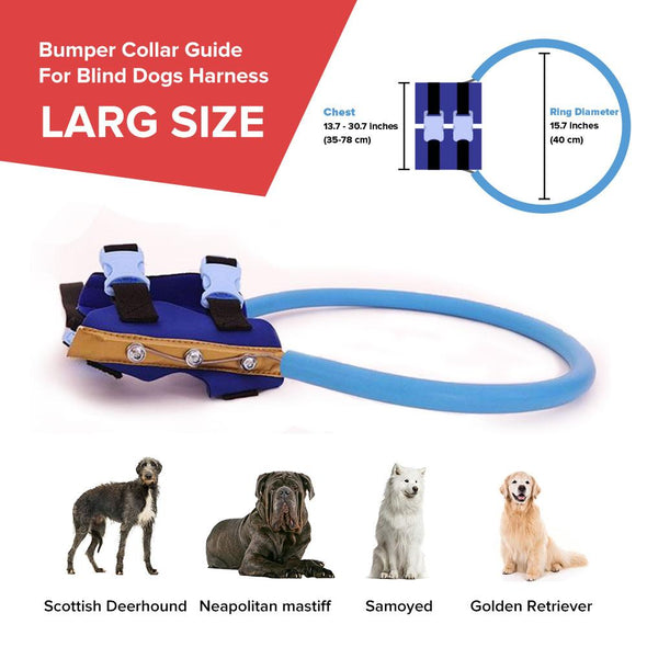 Bumper Collar Guide For Blind Dogs Harness Bumer collar GlamorousDogs L