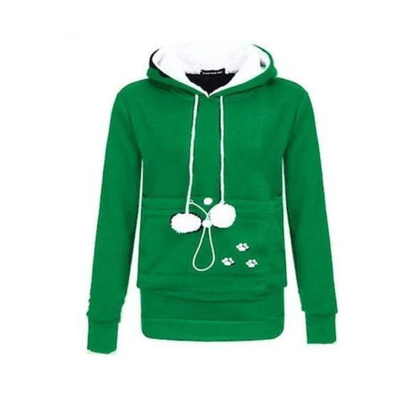 Cat Pouch Hoodie| Cat Pouch Sweater Outfit Stunning Pets S green