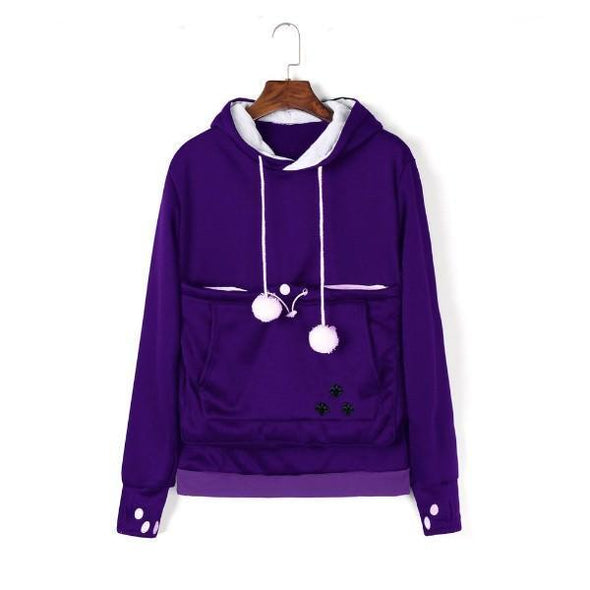 Cat Pouch Hoodie| Cat Pouch Sweater Outfit Stunning Pets S purple