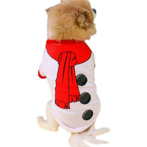 Christmas Snowman Costume for Pets Cat Dog Christmas GlamorousDogs Snowman XS