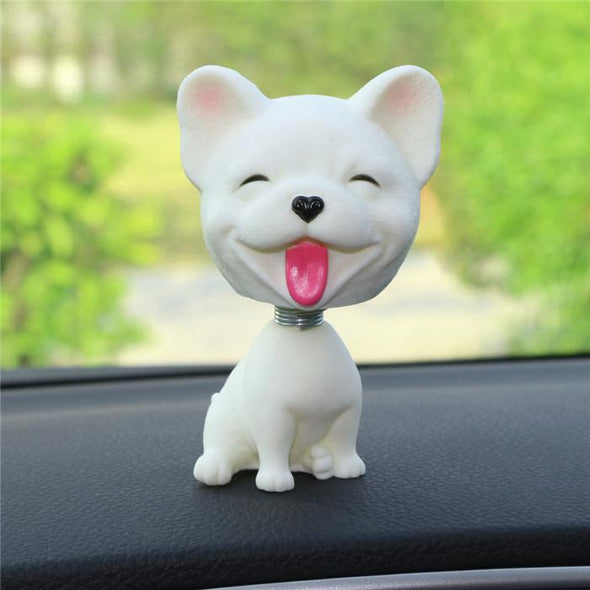 Cute Dog Bobble Head Mini Toy for the Car  Glamorous Dogs