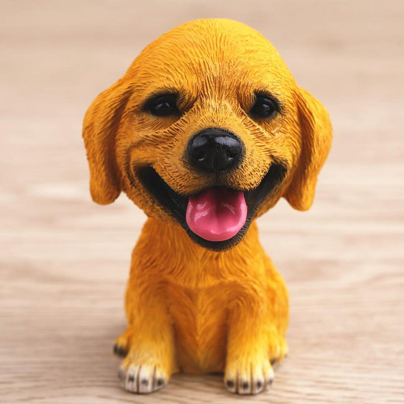 Cute Dog Bobble Head Mini Toy for the Car GlamorousDogs Golden Retriever