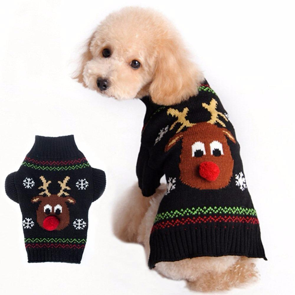 Cute Santa Claus Christmas Dog Sweater Stunning Pets