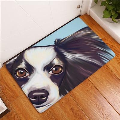 DOG ART FLOOR MAT Dog Mat GlamorousDogs BORDER COLLIE 16X24 INCH / 40X60 CM