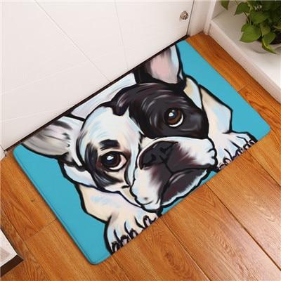 DOG ART FLOOR MAT Dog Mat GlamorousDogs FRENCH BULLDOG 16X24 INCH / 40X60 CM