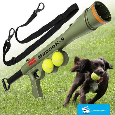 Dog Ball Launcher Gun Exhaustion-free 50 Feet Bazooka K9 Launcher Fun Stunning Pets