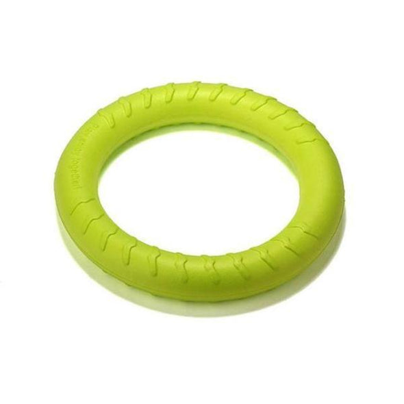 Durable Dental Dog Floating Training Ring Summer Toys Stunning Pets Green 18 CM Diameter