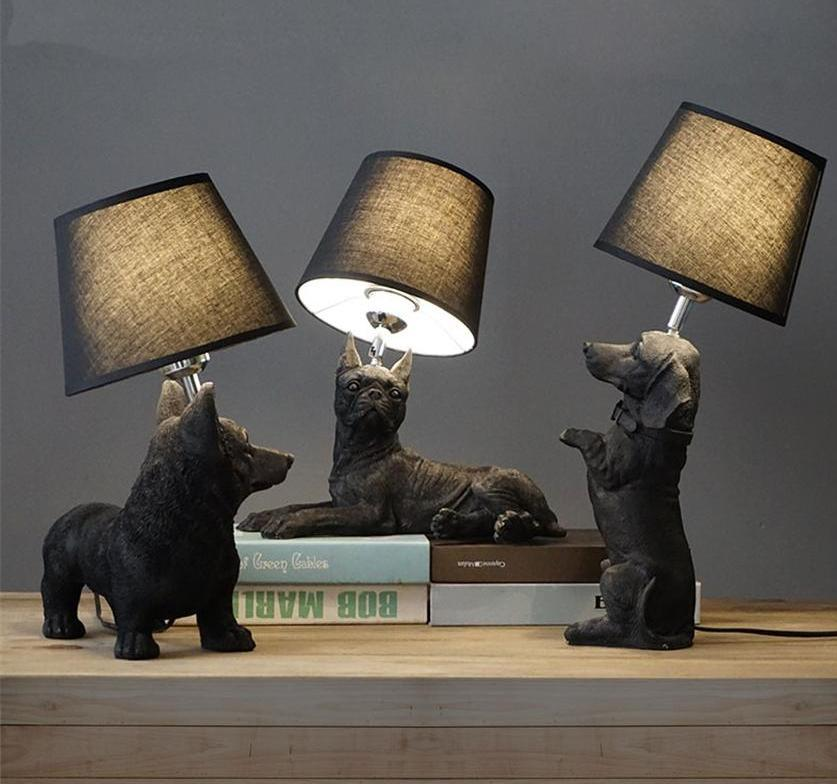 Elegant Retro Dog-inspired Table Lamp