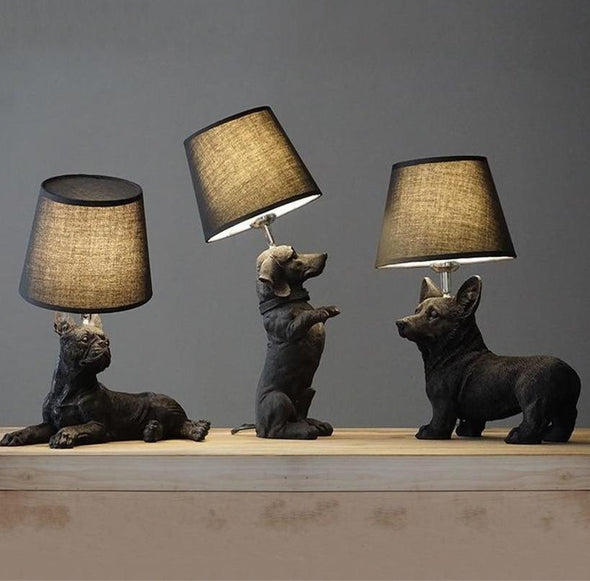 Elegant Retro Dog-inspired Table Lamp High Ticket GlamorousDogs