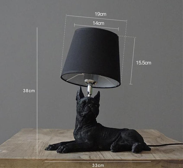 Elegant Retro Dog-inspired Table Lamp High Ticket GlamorousDogs Black Boston Terrier