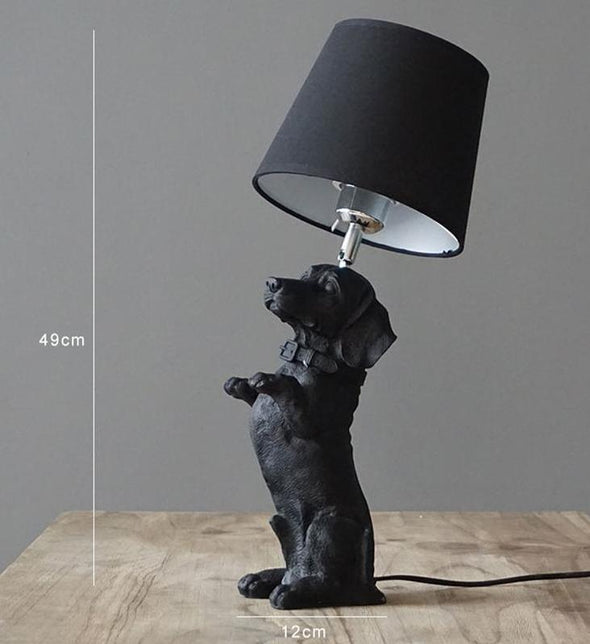 Elegant Retro Dog-inspired Table Lamp High Ticket GlamorousDogs Black Dachshund