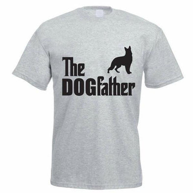 Funny Printed T-shirt: The Dogfather T-shirt | Free Shipping Stunning Pets Gray S