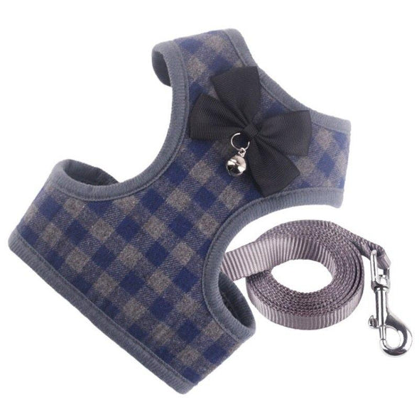 Gentleman's Deluxe Tuxedo For A Dog Harness & Leash Classic Harness GlamorousDogs Blue S