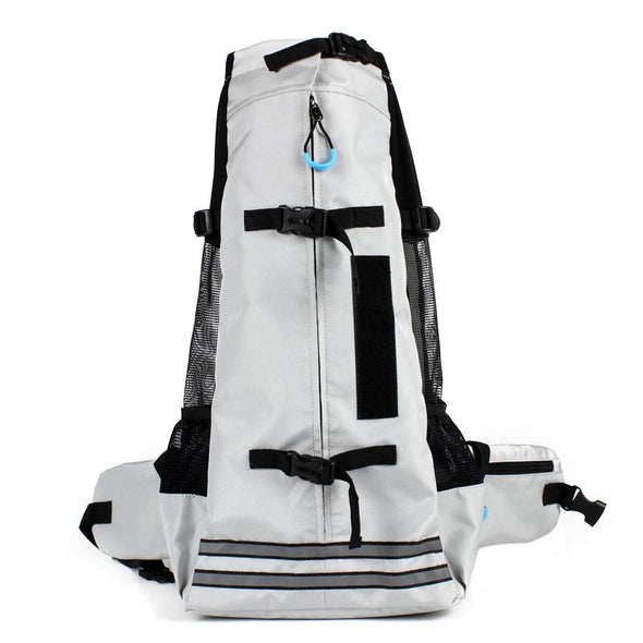 Hands-free Adjustable Pet Backpack Carrier Pet Carrier Glorious Kek Up to 11 lbs Gray