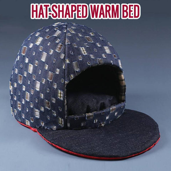 Hat-Shaped Warm Bed Stunning Pets