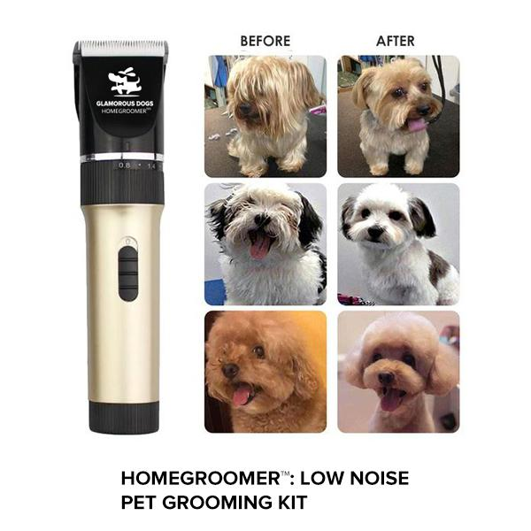 HOMEGROOMER™ X: Low Noise Pet Grooming Kit