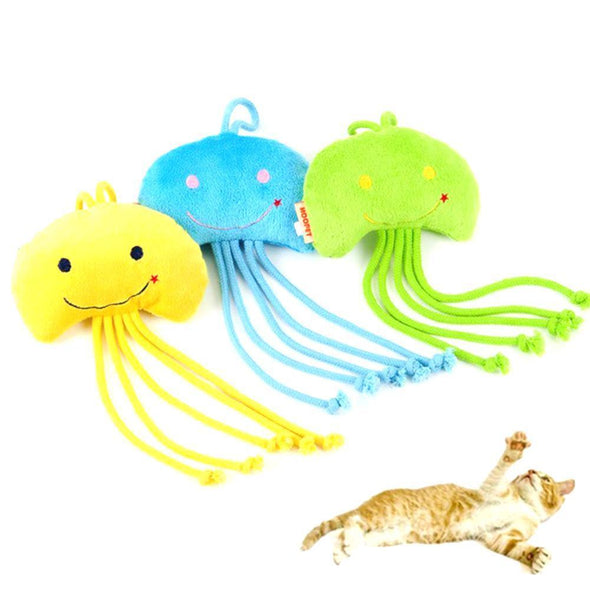 Jellyfish Toys Cat Clean Teeth Stunning Pets