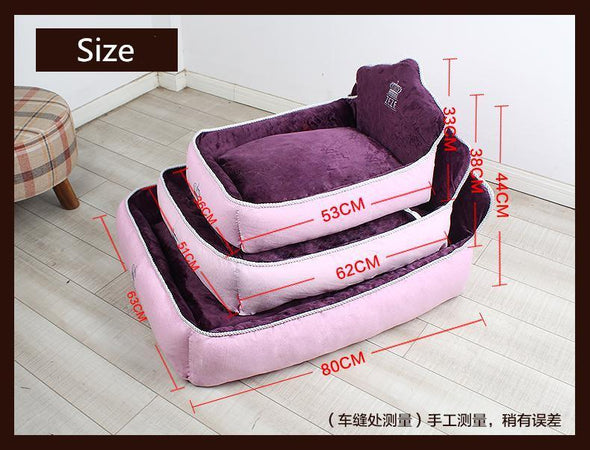 Luxury Princess Bed for Pets Stunning Pets Purple 62x51x38cm