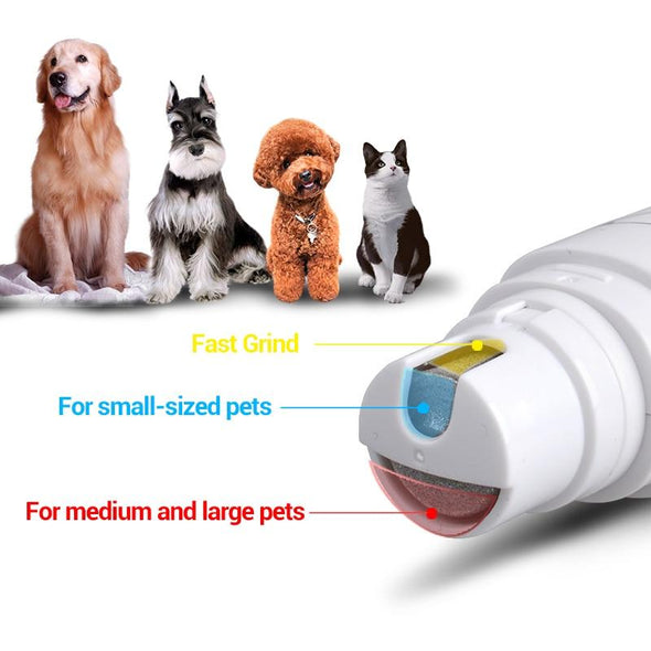 PAWGRND™: USB Rechargeable Nail Grinder For Dog grooming GlamorousDogs 1pc
