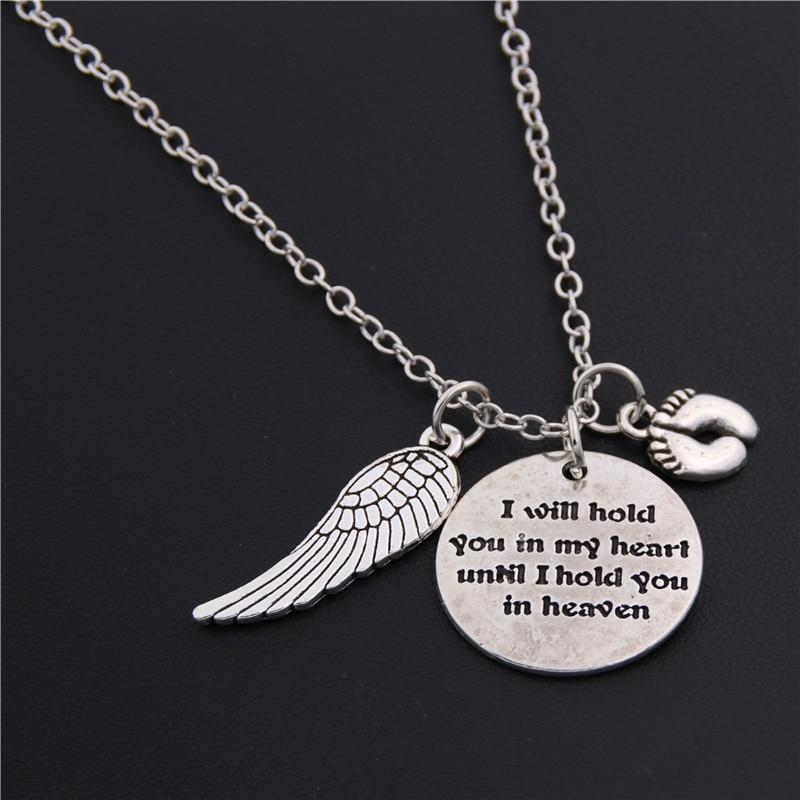 "Pet Memorial necklace ""I Will Hold You in My Heart Until I Can Hold You in Heaven"""