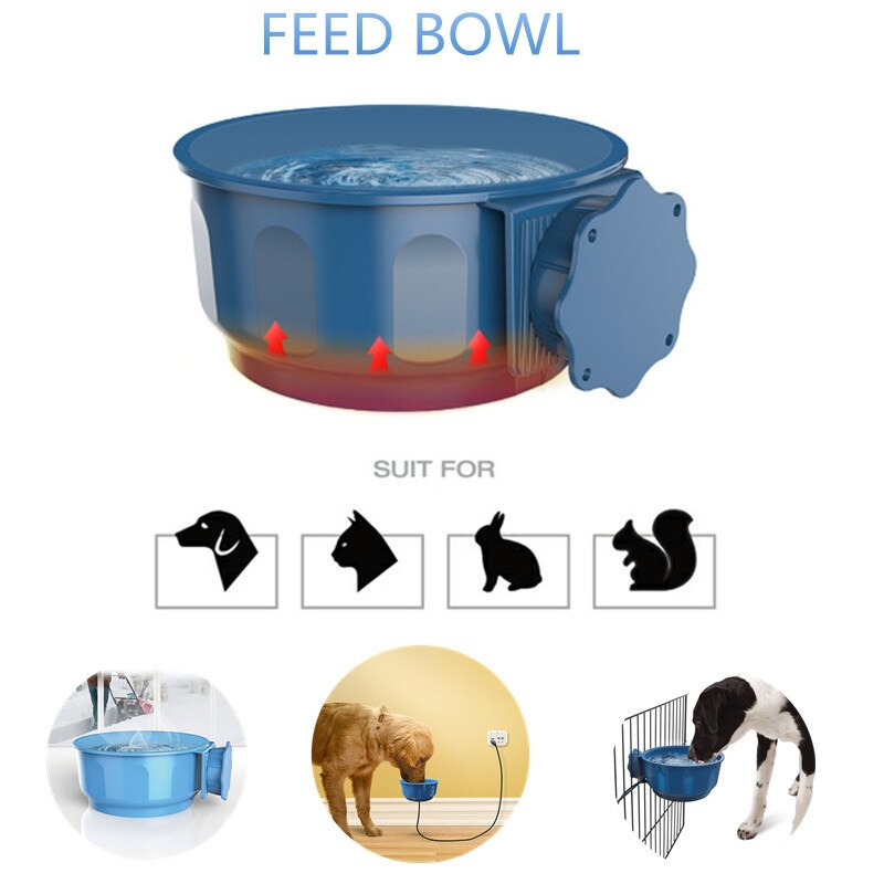 Super Safe Pets Water Heater Bowl For Warm Water During Winter