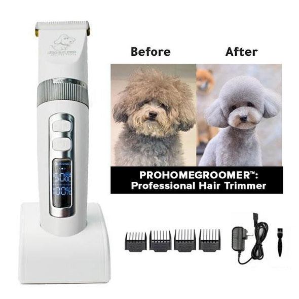 PROHOMEGROOMER™: All in 1 Pet Grooming Kit Dog Grooming kit GlamorousDogs White Pro Trimmer