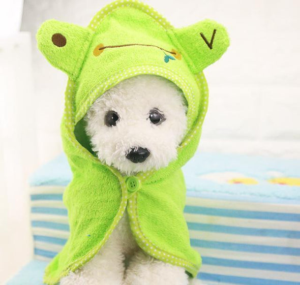 Puppy Super Absorbent High Quality Towel Stunning Pets Green L 55x55cm