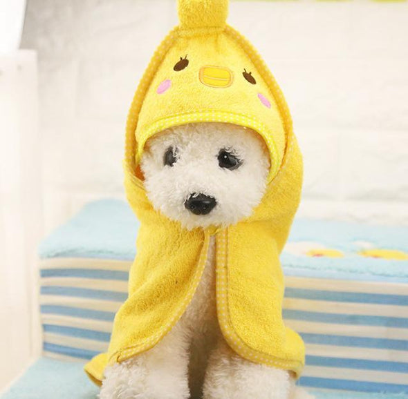 Puppy Super Absorbent High Quality Towel Stunning Pets Yellow L 55x55cm