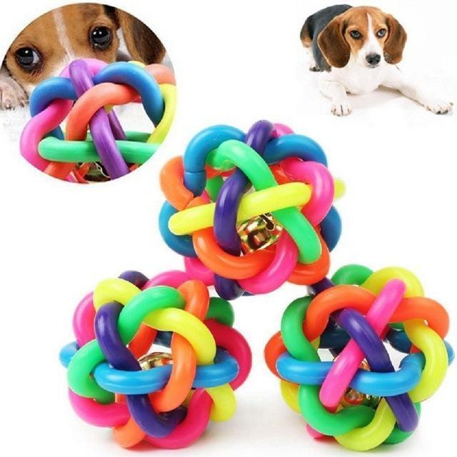Puppy/Cat Colorful Plastic Ball Toy Stunning Pets