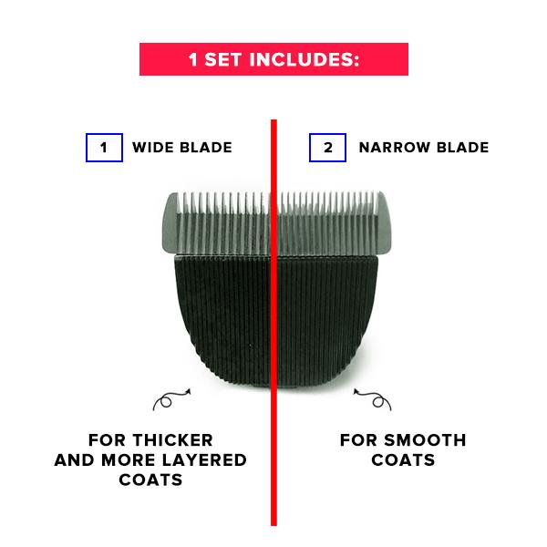 The HOMEGROOMER™ Extra Blades:  Wide & Narrow Extra Blades for the HOMEGROOMER.