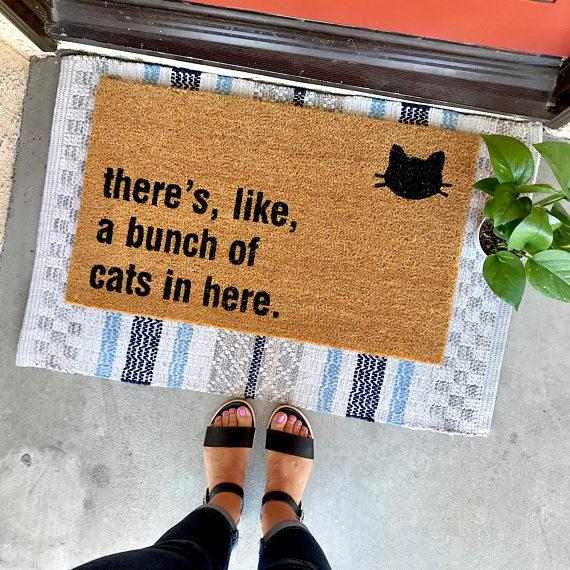 There's Like a Bunch of Cats in Here Doormat | Free Shipping
