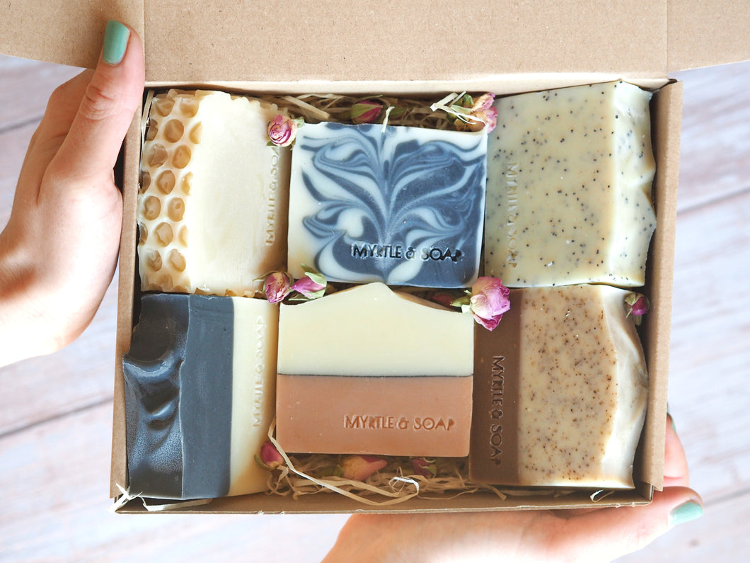 Myrtle MyBox Collection Soap Set with 6 handmade natural soaps