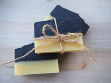 NIGHT & DAY natural soap with the fresh citrus scent of may chang & activated charcoal