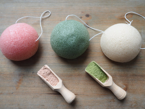 Natural Konjac sponge. Plant based fiber. Eco friendly