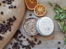 Morning Coffee face scrub with coffee and peppermint.