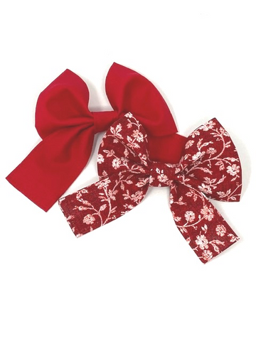Dog Collar Bow Tie, Red Bow Tie, Pet Collar Bow, For Girls, Girly Chunky Bow For Dogs
