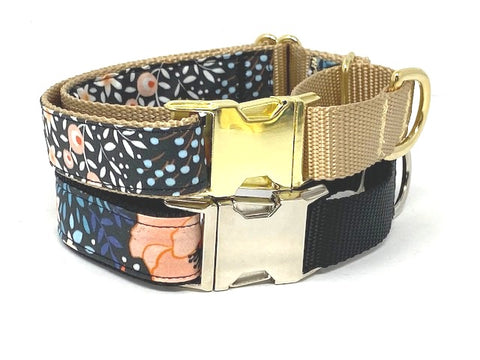 Martingale With Metal Buckle, For Girls, Black Peach, Pink, Gold, Blue, Fall, Female, Personalized, Engraved, Choker Collar, Greyhound
