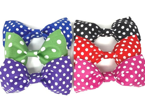 Dog Bow, Pet Bowtie, 6 Colors, Green, Blue, Purple, Black, Red, Pink, Polka Dot, Bowties For Pets, Cat