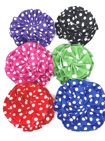 Dog Bow, Girly Dog Collar Flowers, 6 Colors, Green, Blue, Purple, Black, Red, Pink, Polka Dot, Bowties For Pets, Cat