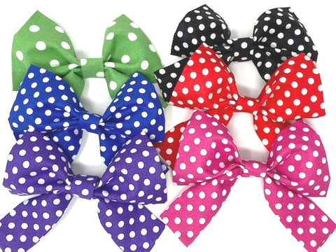 Dog Bow, Girly Dog Bows, 6 Colors, Green, Blue, Purple, Black, Red, Pink, Polka Dot, Bowties For Pets, Cat