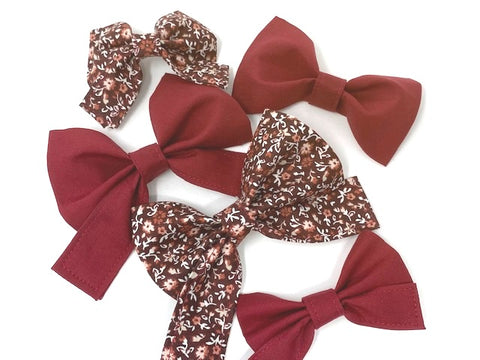 Dog Collar Bow Tie, Burgundy, Maroon, Girl Bow Tie, Wine, For Girls, Boys