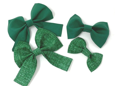 Dog Collar Bow Tie, Pet Bow Tie, Girl Bow Tie, Boy, Green, Christmas, St. Patricks Day Bowtie