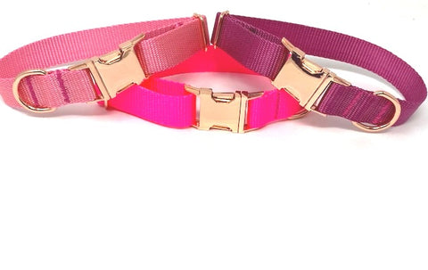 Dog Collar For Girls, Light Pink, Hot Pink, Raspberry, Female, Nylon, Pet Collar, Personalized, Engraved, Small, Medium, Large, X Large