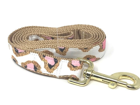dog leash, lead, leopard print, animal print, girls, pink, gold, black, white, lead