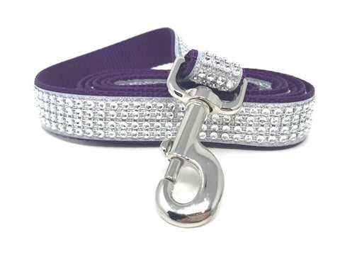 Purple, White, Rhinestone, Glitter, Dog Leash, Lead, Girls, Boys, SParkly, SParkle, Bling