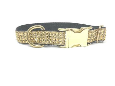 Gold, Black, dog collar, rhinestone dog collar, dog collar for girls, female, bling, sparkly