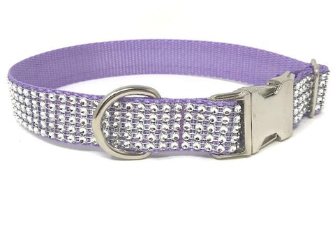 Lavender Dog Collar, Cat Collar, Lilac, Rhinestone, Personalized, Girls, Female, Small Dog, Medium Dog, Large Dog, Pretty, Fancy, Bling, Sparkly