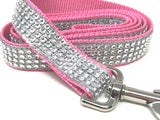 Pink, White, Glitter And Rhinestone, Dog Leash, Lead, For Girls
