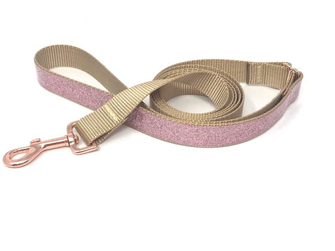 Rose Gold, Gold, Fancy, Sparkle, Glitter, Dog Leash, Lead, For Girls, wedding, sparkle, blingy