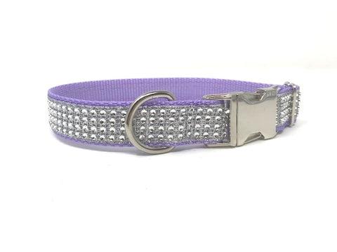 lavender, lilac, dog collar, rhinestone dog collar, dog collar for girls, female, bling, sparkly